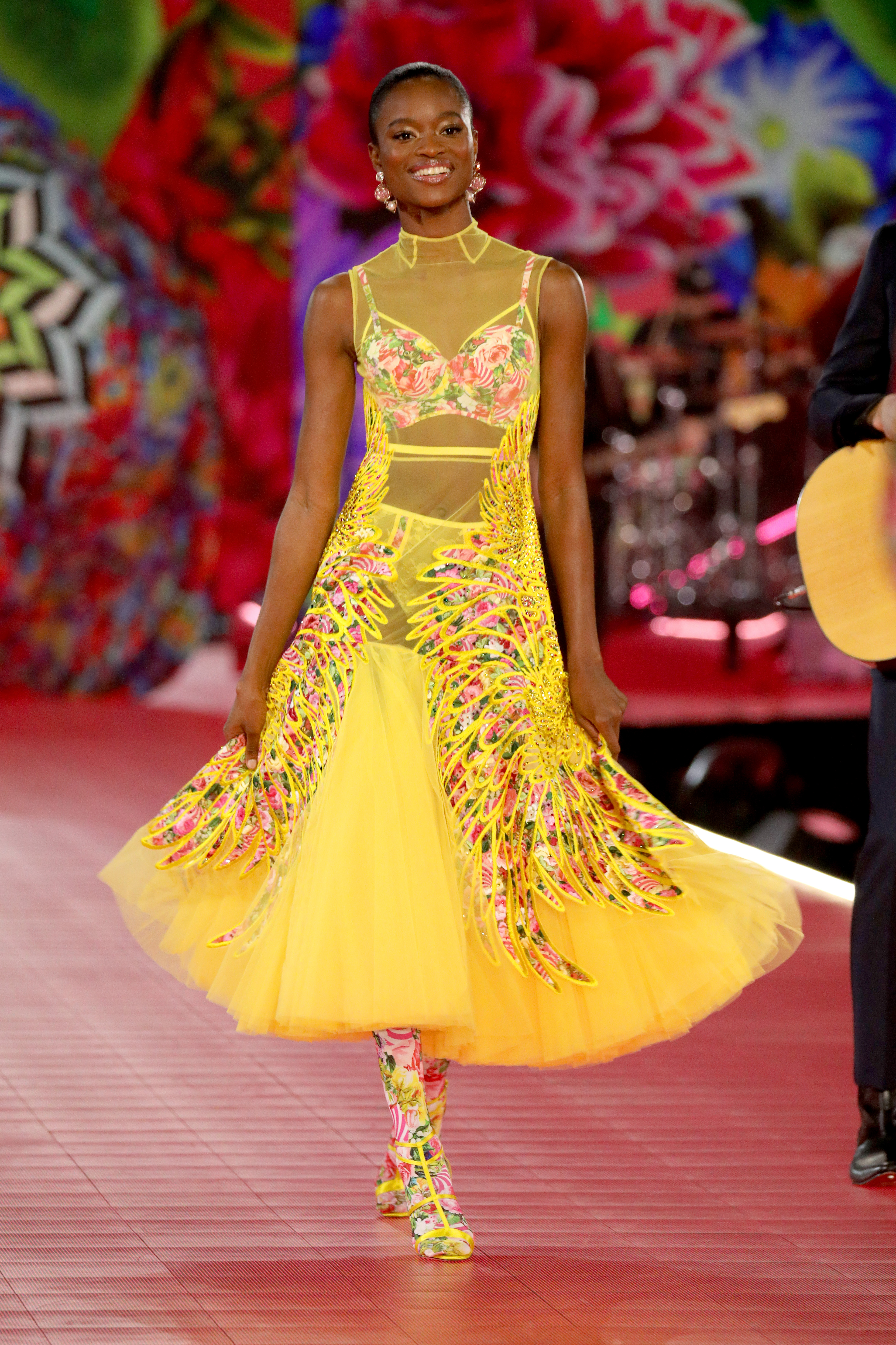 Mayowa Nicholas walks the runway wearing Swarovski in the 2018 Victoria's Secret Fashion Show at Pier 94 on November 8, 2018, in New York City. (Getty Images)