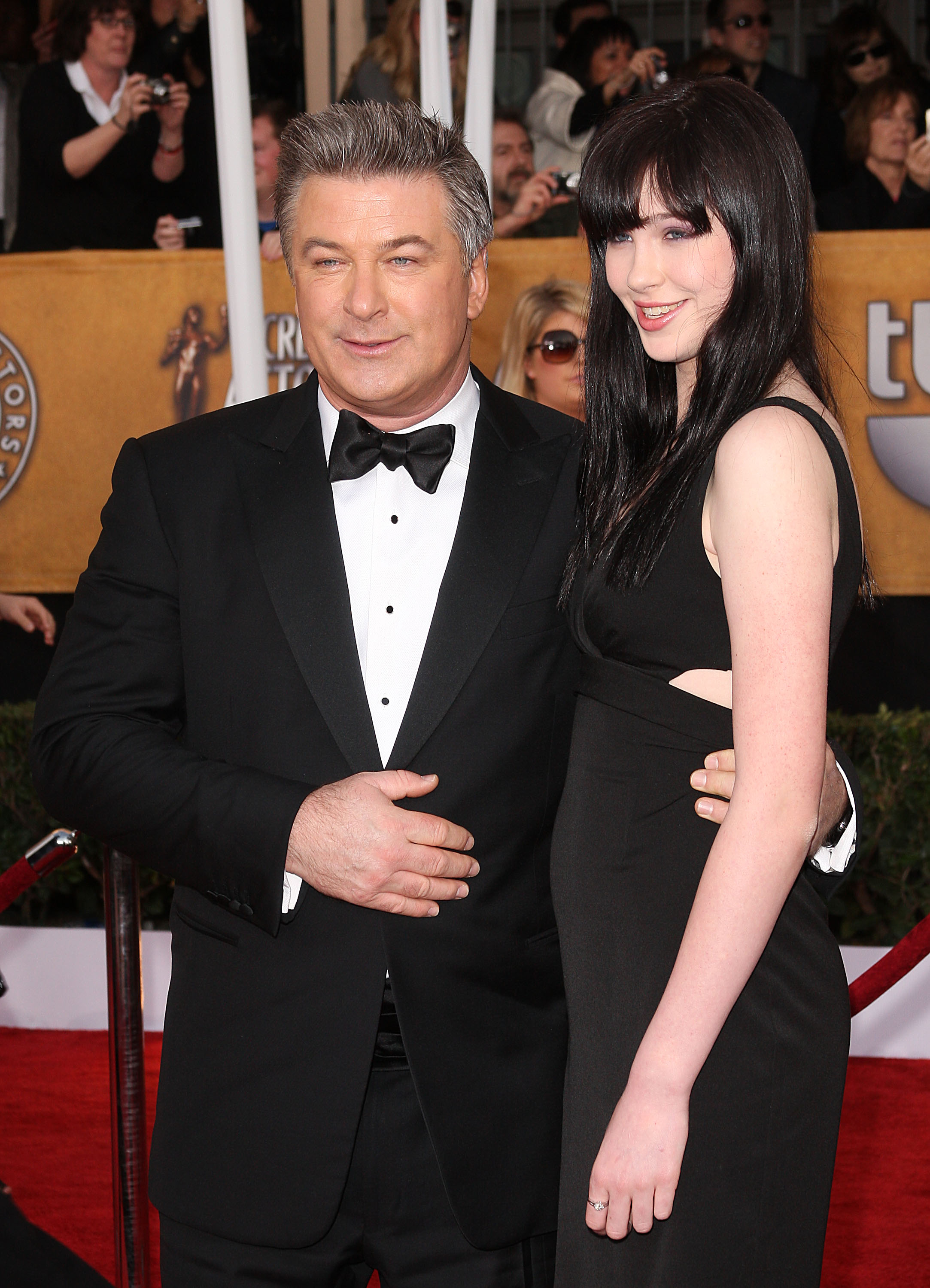 Actor Alec Baldwin (L) and daughter Ireland (Photo by Jason Merritt/Getty Images)