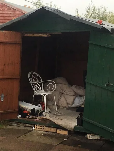 The man was said to be living in a shed containing just a chair and soiled bedding. (GLAA)
