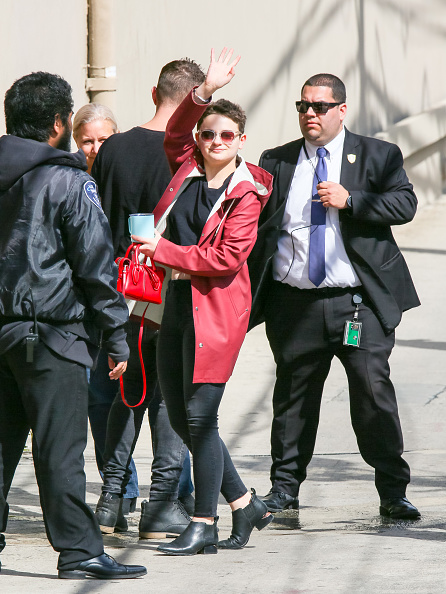 Joey King is seen arriving at 'Jimmy Kimmel Live' on March 20, 2019 in Los Angeles, California. (Photo by BG017/Bauer-Griffin/GC Images)