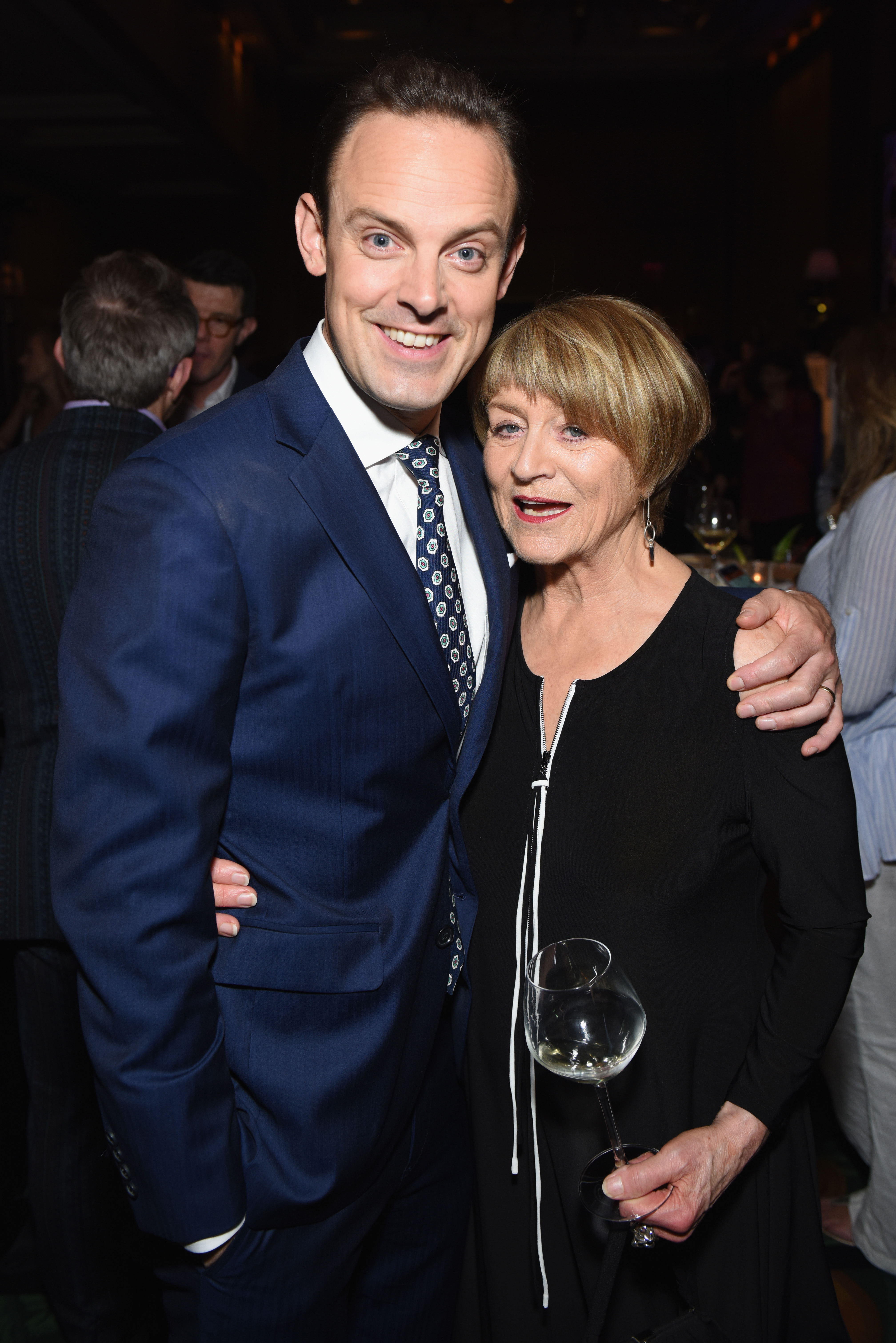Harry Hadden-Paton and Susan Brown attend the Tony Honors Cocktail Party Presenting The 2018 Tony Honors For Excellence In The Theatre And Honoring The 2018 Special Award Recipients at Sofitel Hotel on June 4, 2018 in New York City.