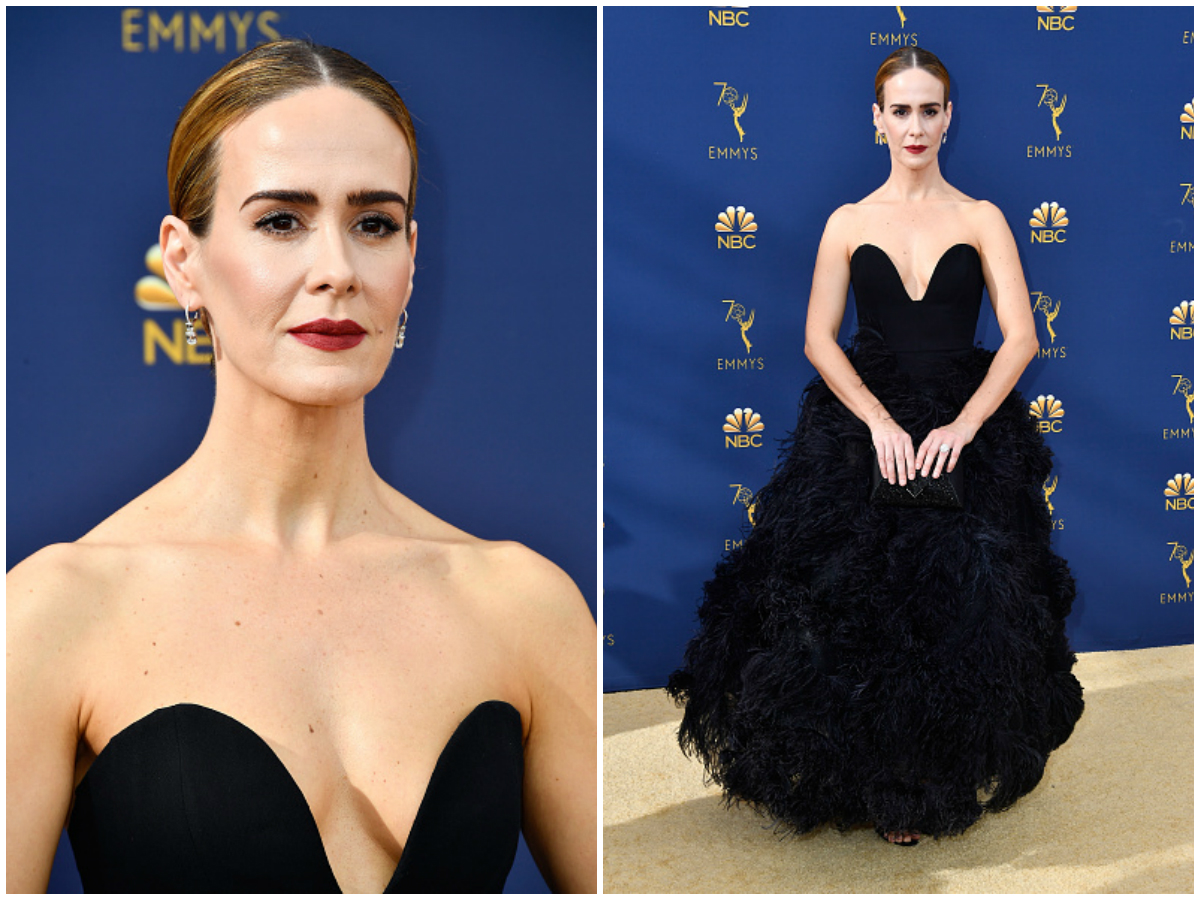 Sarah Paulson attends the 70th Emmy Awards at Microsoft Theater on September 17, 2018 in Los Angeles, California.