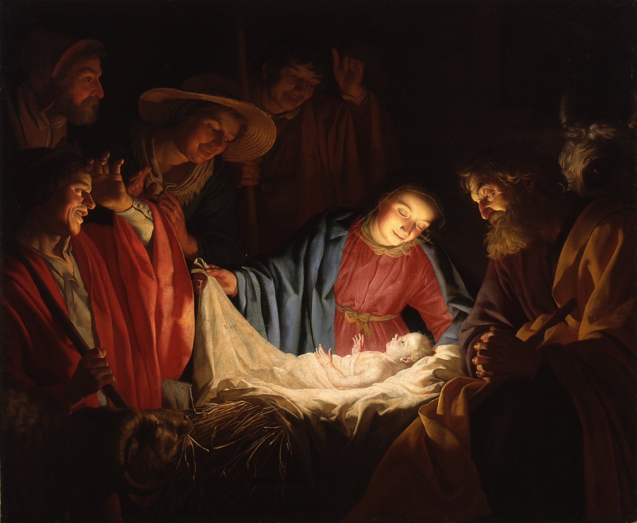 Adoration of the Shepherds (1622) by Gerard van Honthorst (Wikimedia)