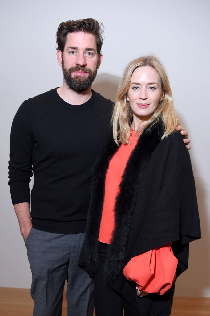 John Krasinski and Emily Blunt attend the 'Final Portrait' New York Screening After Party at Levy Gorvy Gallery on March 22, 2018 in New York City. (Photo by Michael Loccisano/Getty Images)