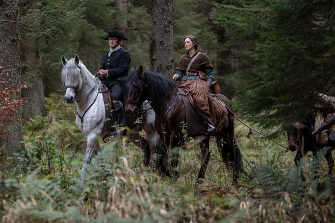 Claire and Jamie Fraser embark on a journey to find their home (Starz)