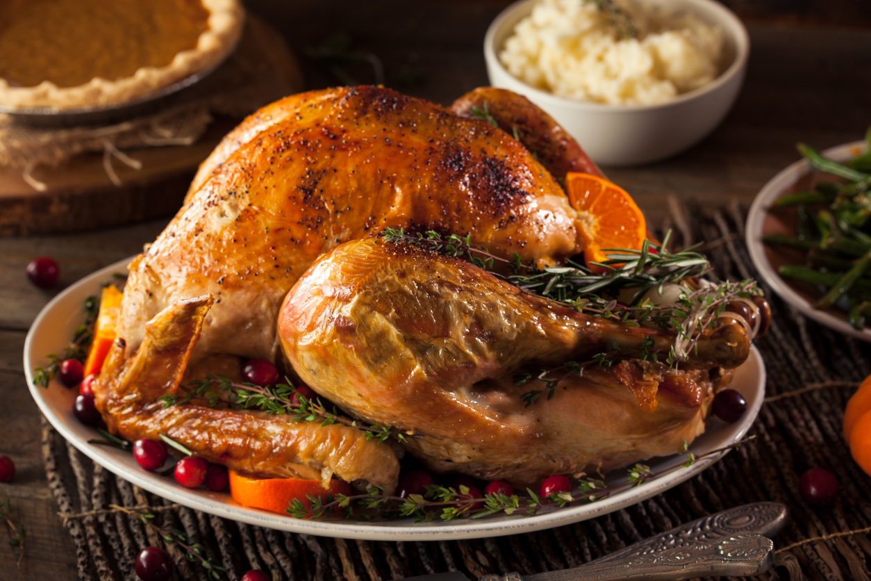 Pollutant levels after cooking a roast turkey were 13 times higher than those in central London, experts found. (iStock)