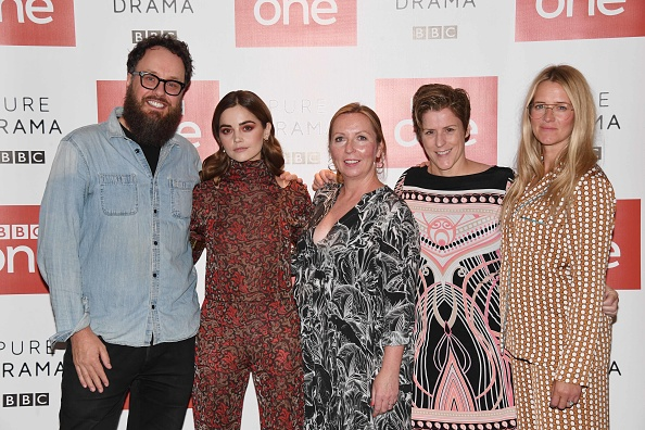 Glendyn Ivin, Jenna Coleman, Claire Mundell, Helen Fitzgerald and Edith Bowman attend a photocall for new BBC 1 psychological thriller 'The Cry' . (Getty Images)