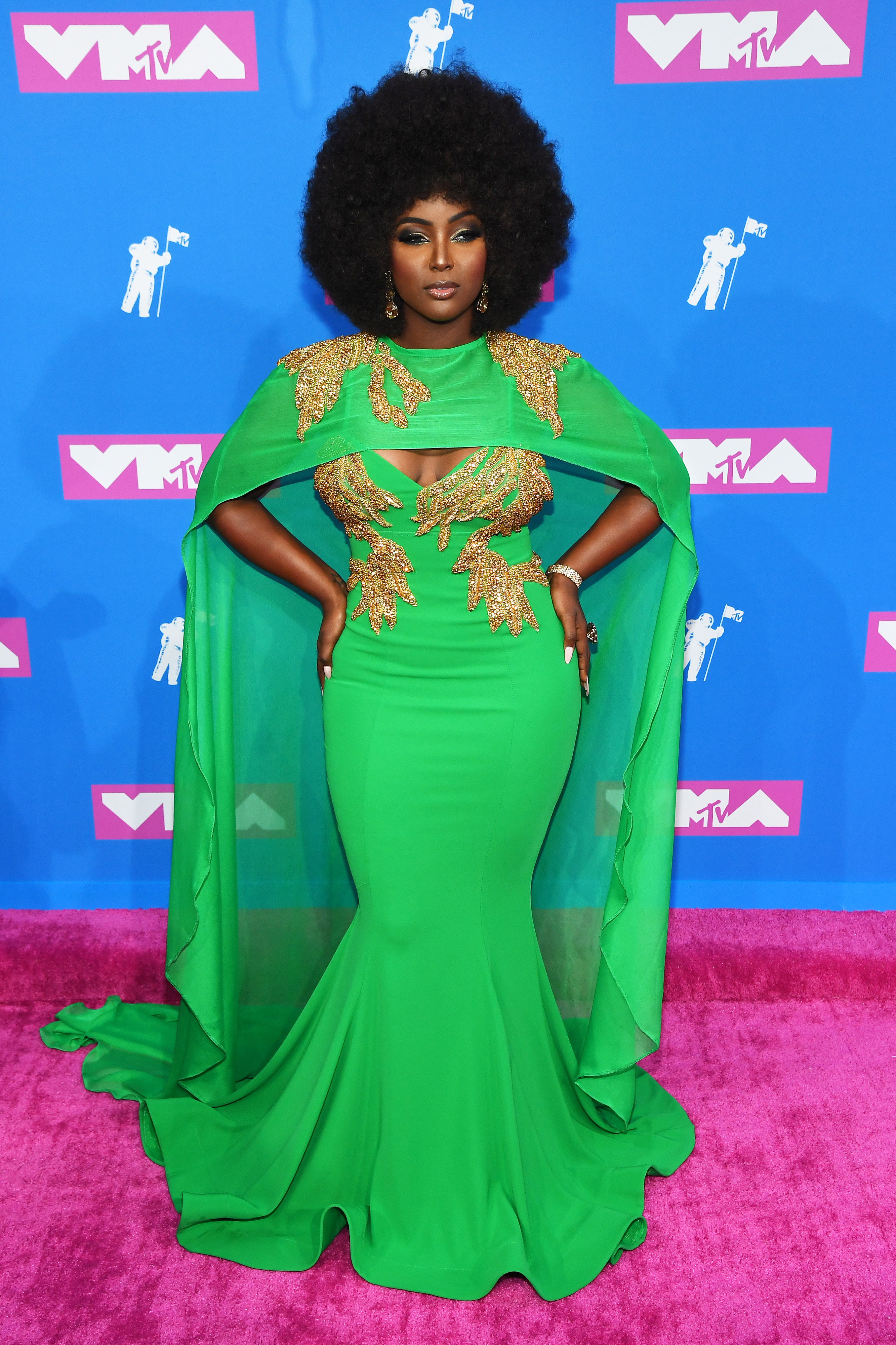 Amara La Negra attends the 2018 MTV Video Music Awards at Radio City Music Hall on August 20, 2018 in New York City.