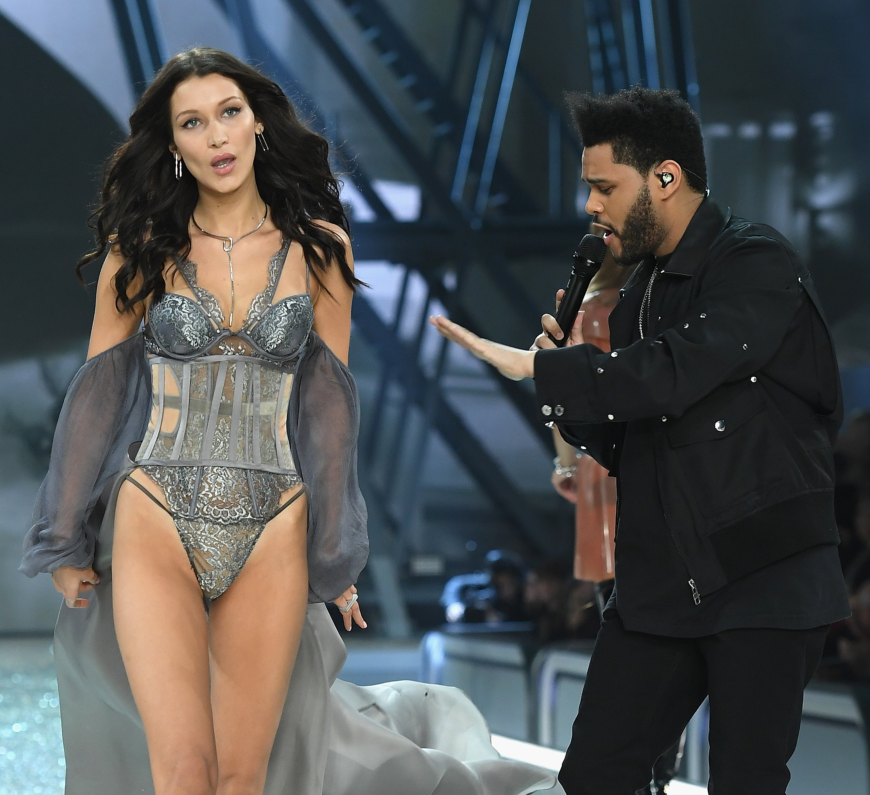 Bella Hadid walks the runway as The Weekend performs during the 2016 Victoria's Secret Fashion Show on November 30, 2016, in Paris, France. (Getty Images)