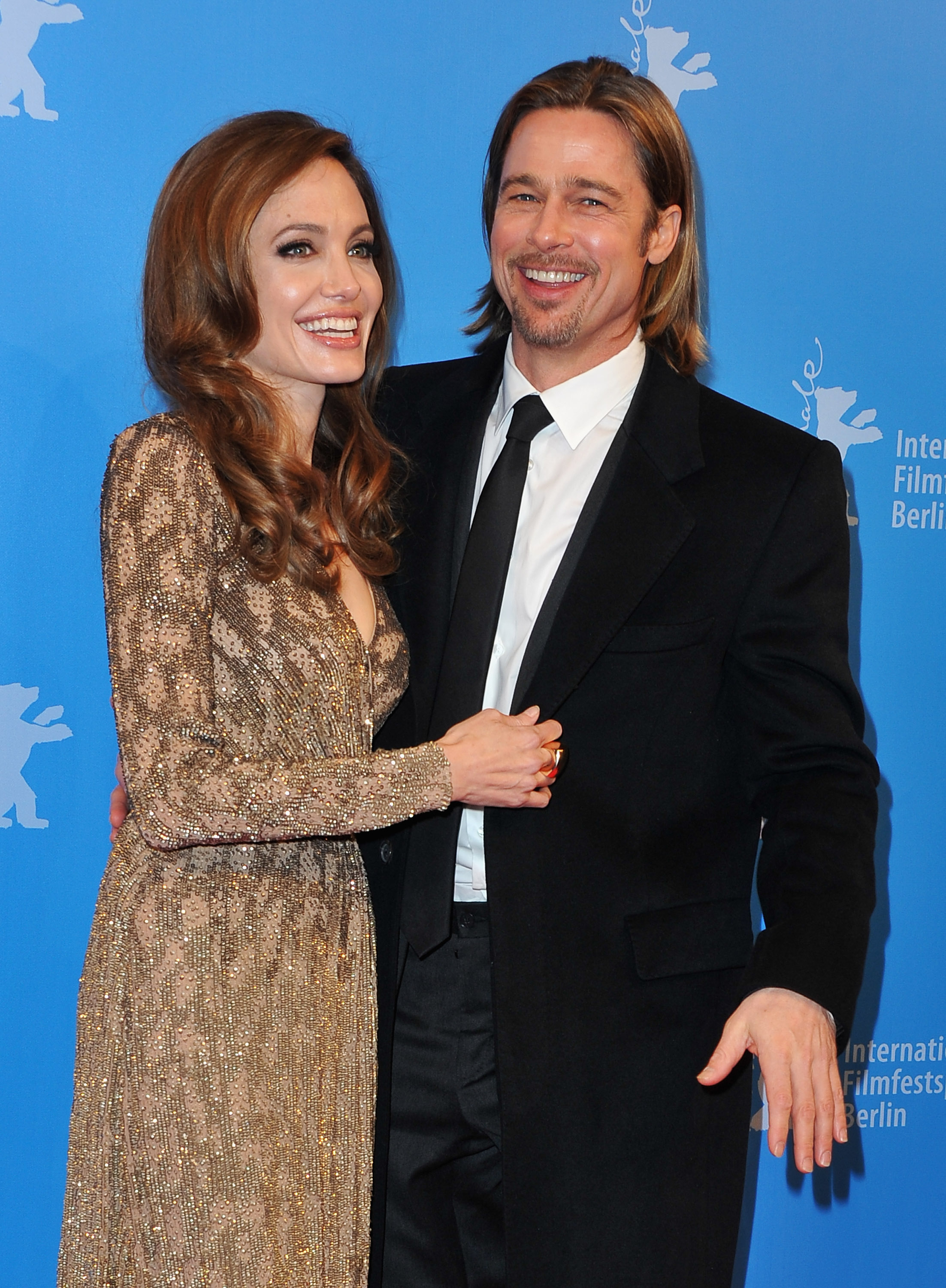 Their split was rumored to be because of Brad's growing relationship with Angelina Jolie after the pair worked together in 'Mr. and Mrs. Smith' in 2004. (Photo by Pascal Le Segretain/Getty Images)