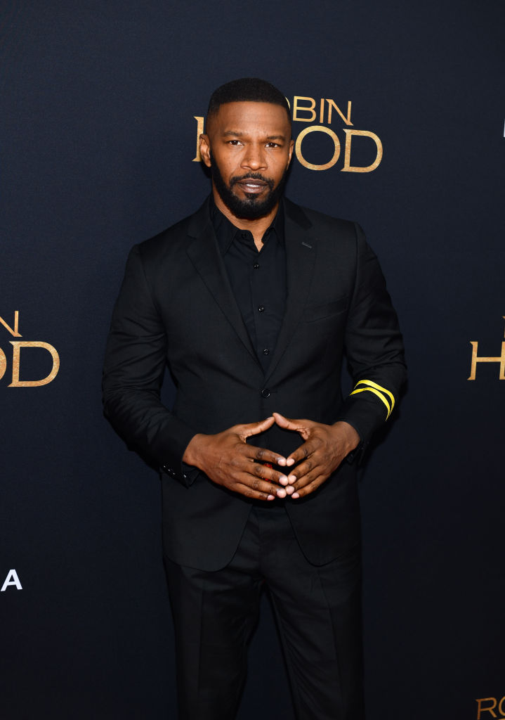 Jamie Foxx attends the 'Robin Hood' New York screening at AMC Lincoln Square Theater on November 11, 2018 in New York City. (Photo by Noam Galai/Getty Images)
