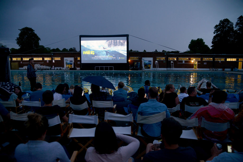 A general view at a special screening of 'The Meg' at Brockwell Lido on August 7, 2018 in London, England. (Photo by Dave J Hogan/Dave J Hogan/Getty Images for Warner Bros.)