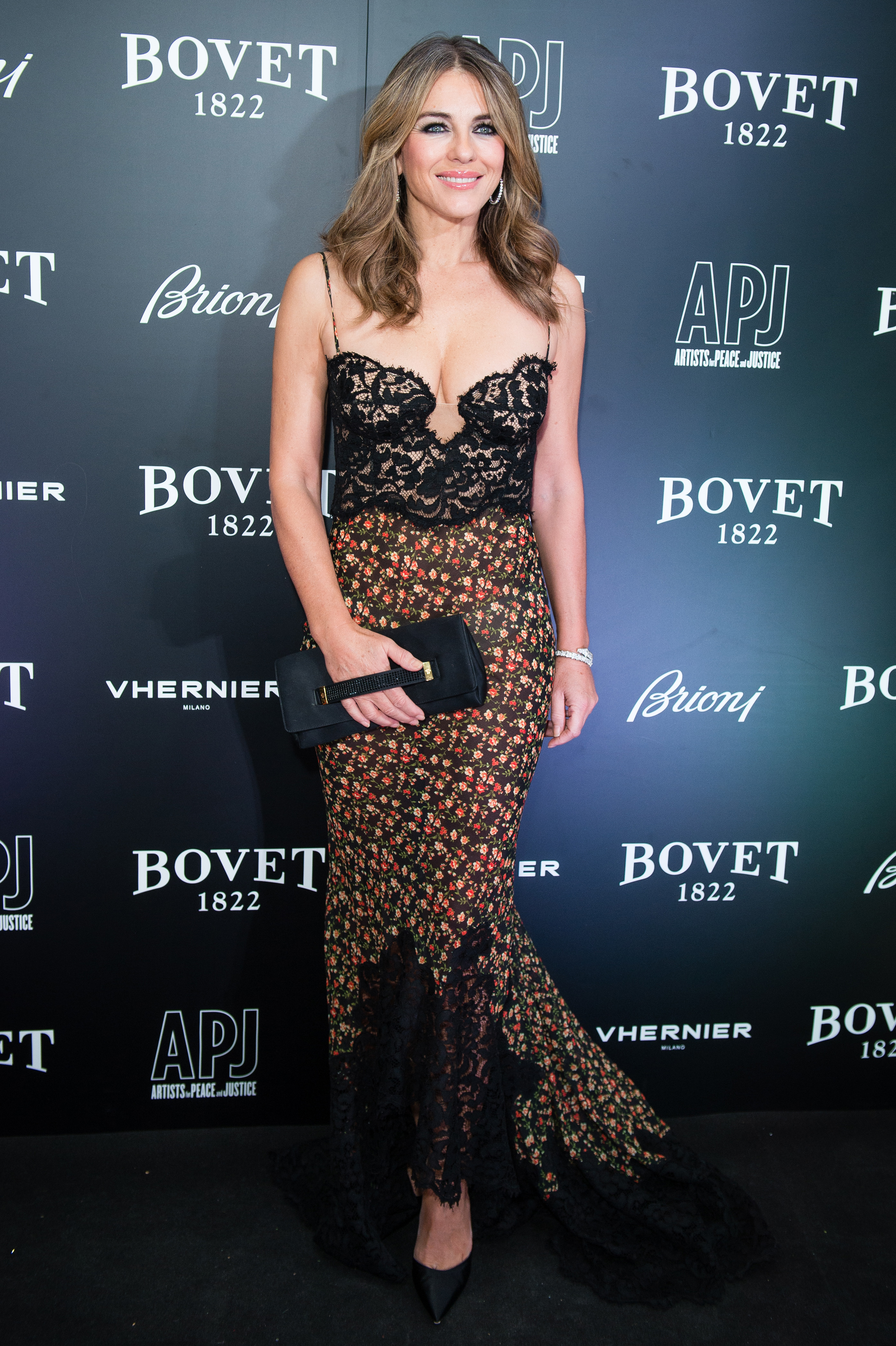 Elizabeth Hurley attends the 'Brilliant Is Beautiful' gala held at Claridge's Hotel on December 1, 2017 in London, England.