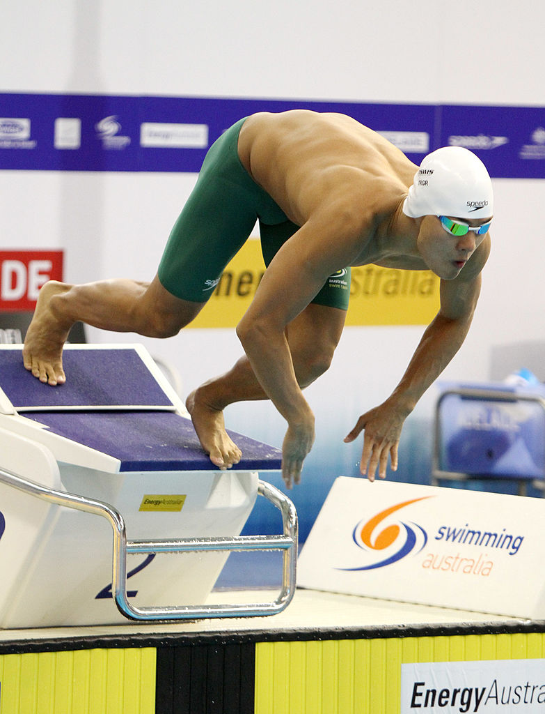 Kenneth To of Australia competes in the Mens 100 Metre Freestyle during day four of the Australian Olympic Swimming Trials at the South Australian Aquatic & Leisure Centre on March 18, 2012 in Adelaide, Australia. (Photo by Morne de Klerk/Getty Images)