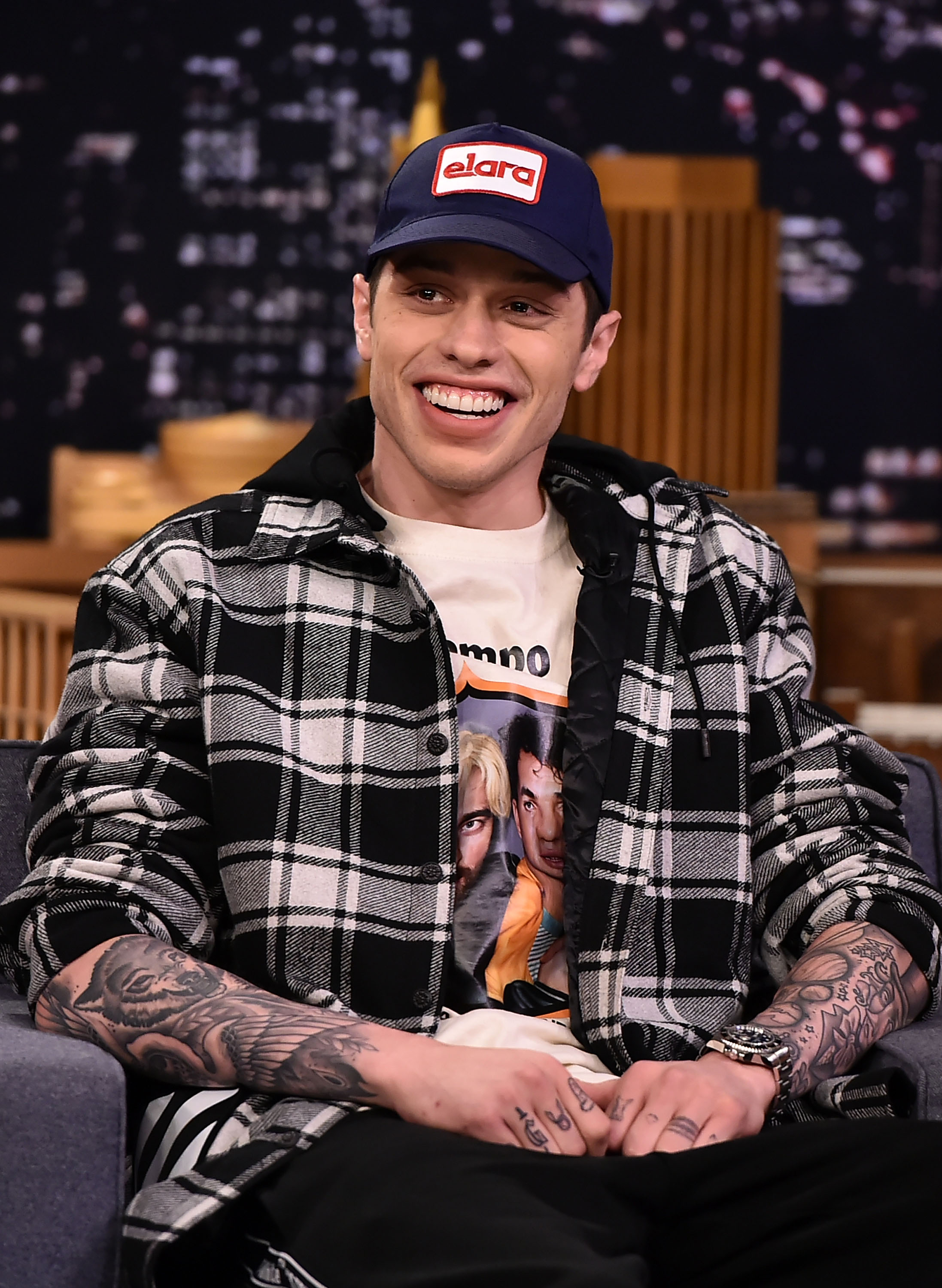 Pete Davidson Visits 'The Tonight Show Starring Jimmy Fallon' at Rockefeller Center on June 20, 2018 in New York City.