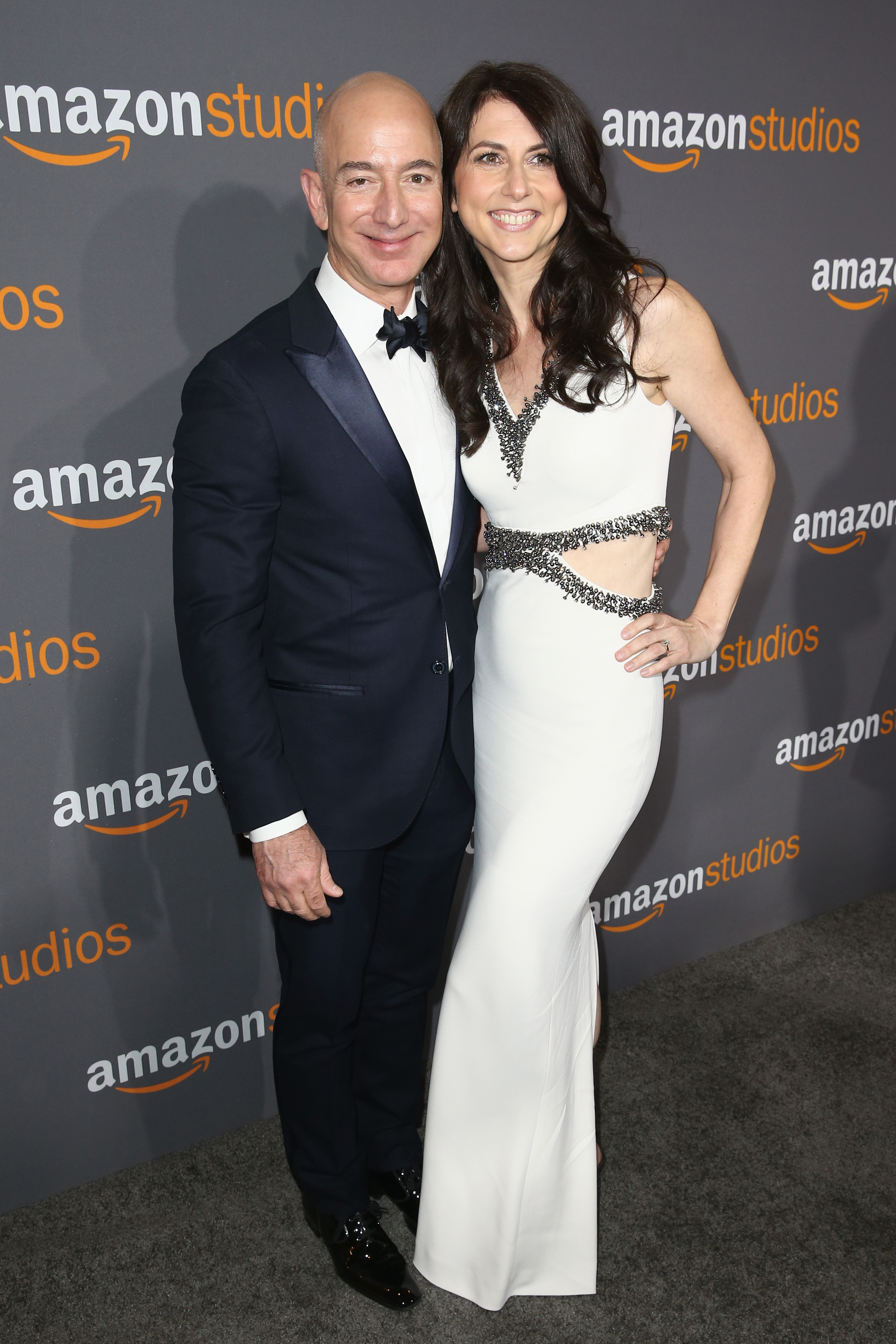 Amazon Founder/CEO Jeff Bezos (L) and MacKenzie Bezos attend Amazon Studios Golden Globes Celebration at The Beverly Hilton Hotel on January 8, 2017, in Beverly Hills, California. (Getty)