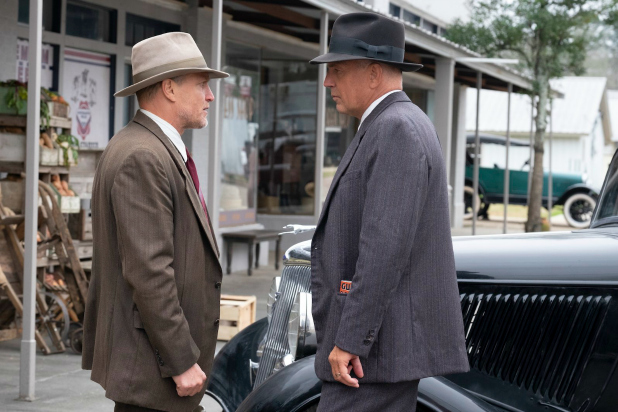 A still featuring Woody Harrelson and Kevin Costner from upcoming Netflix movie The Highwaymen. (Source: Netflix)
