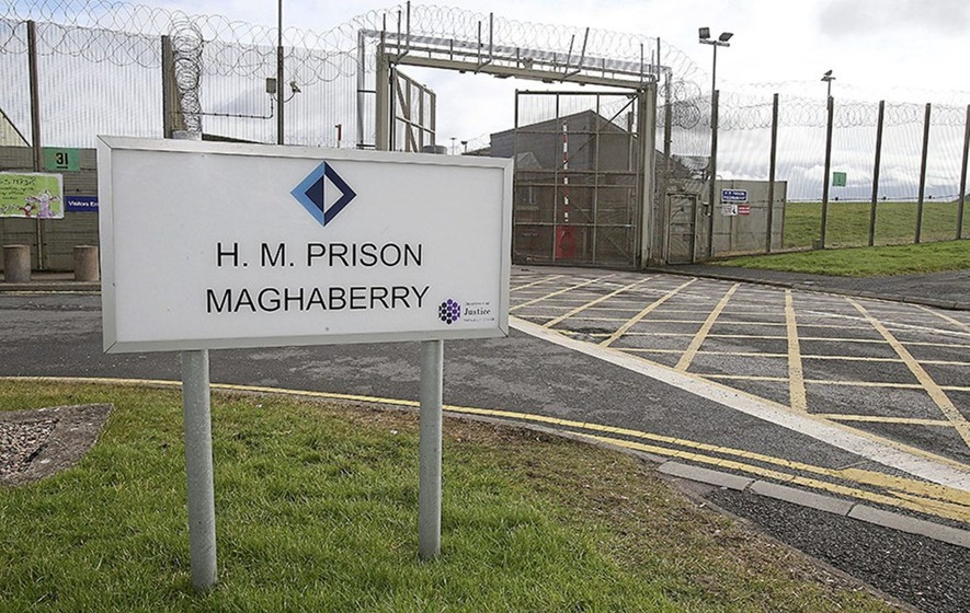 The incident took place last weekend at Bann House in one of Northern Ireland's most secure prisons, Maghaberry. (Twitter)