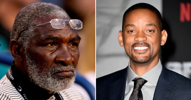 Actor Will Smith (R) slammed for being cast to play Richard Williams (L) (Source: Getty Images)