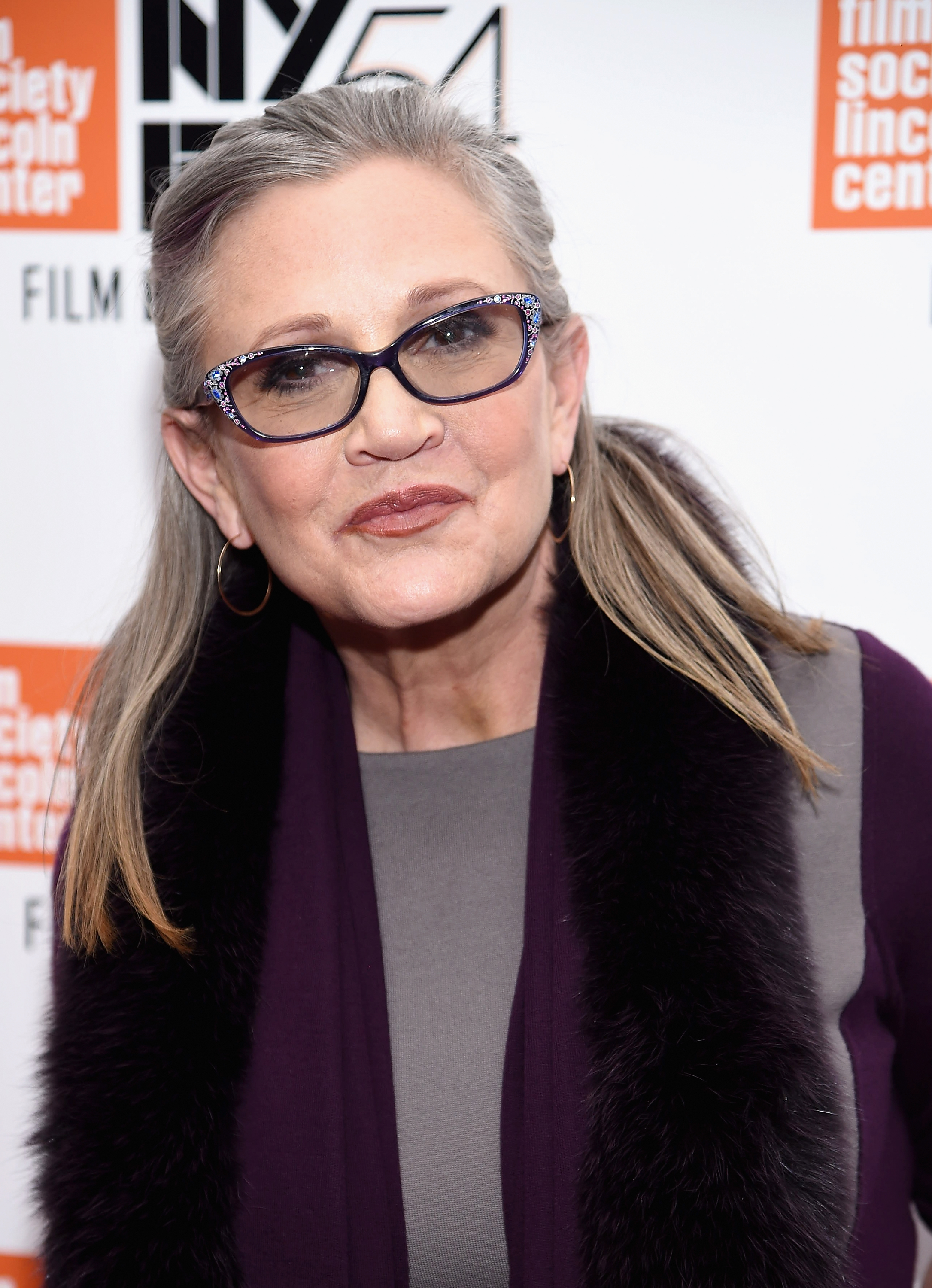 Carrie Fisher attends the 54th New York Film Festival - 'Bright Lights' Photo Cal on October 10, 2016 in New York City. (Photo by Dimitrios Kambouris/Getty Images)