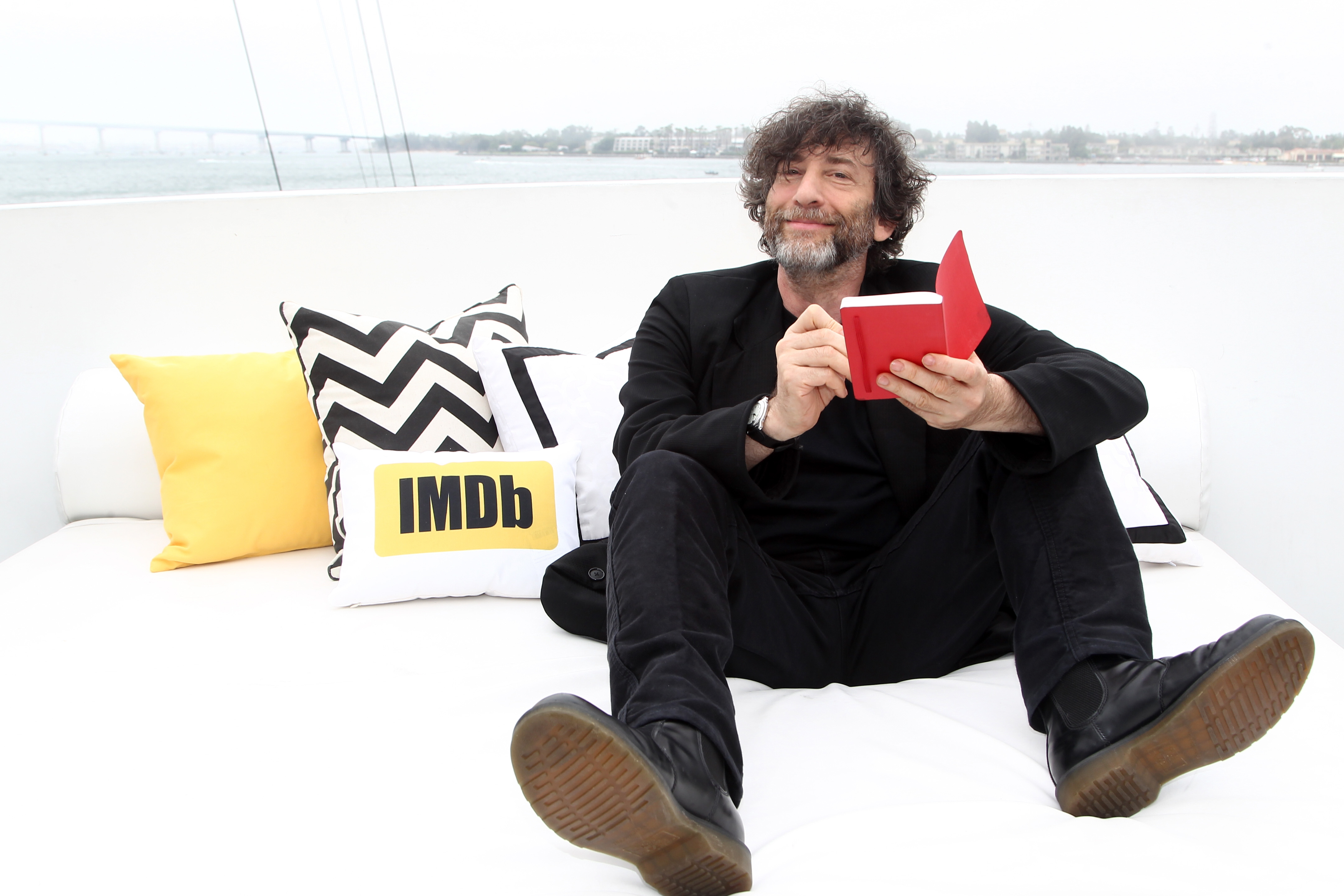 Writer Neil Gaiman attends Day Three at the IMDb Yacht at San Diego, California Comic-Con 2016. Source: (Photo by Tommaso Boddi/Getty Images for IMDb)