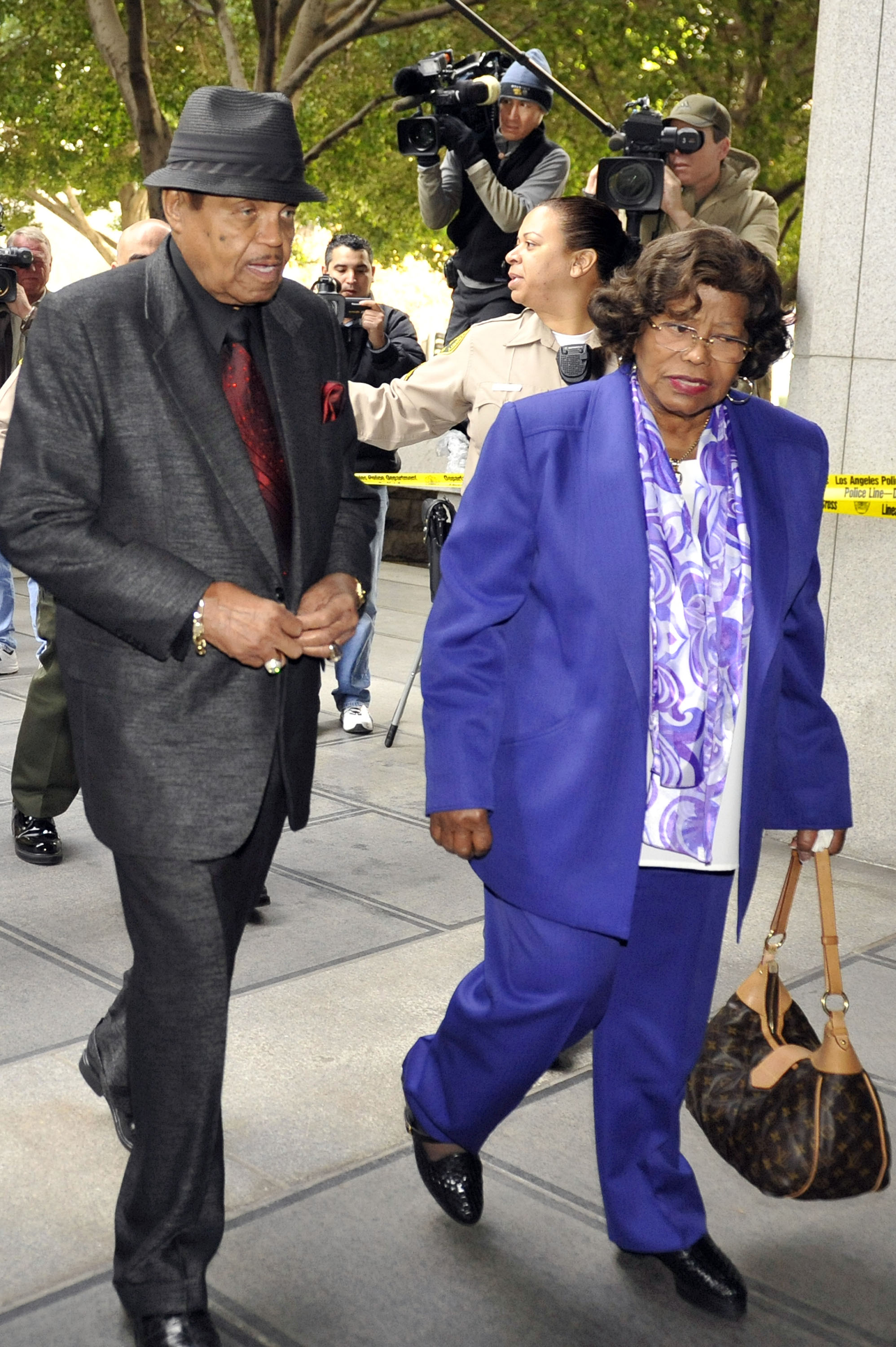 Joe and Katherine Jackson arrive for the second day of the preliminary hearing for Dr Conrad Murray on January 5, 2011 in Los Angeles, California.