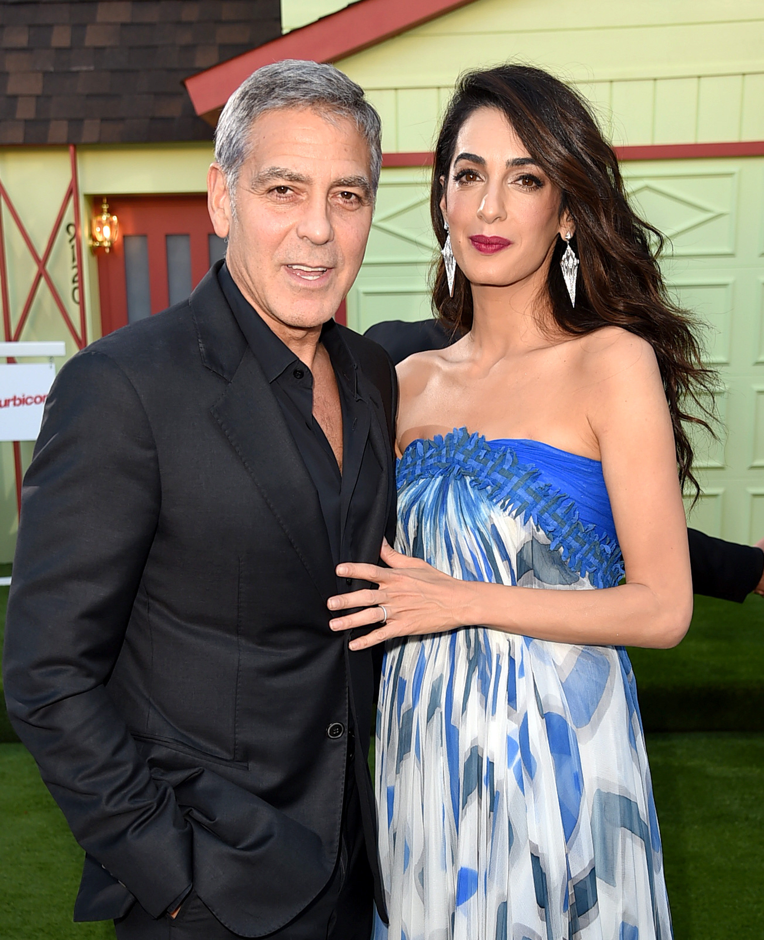 Executive producer/director George Clooney and his wife Amal Clooney arrive at the premiere of Paramount Pictures' 'Suburbicon' at the Village Theatre on October 22, 2017, in Los Angeles, California. (Getty Images)