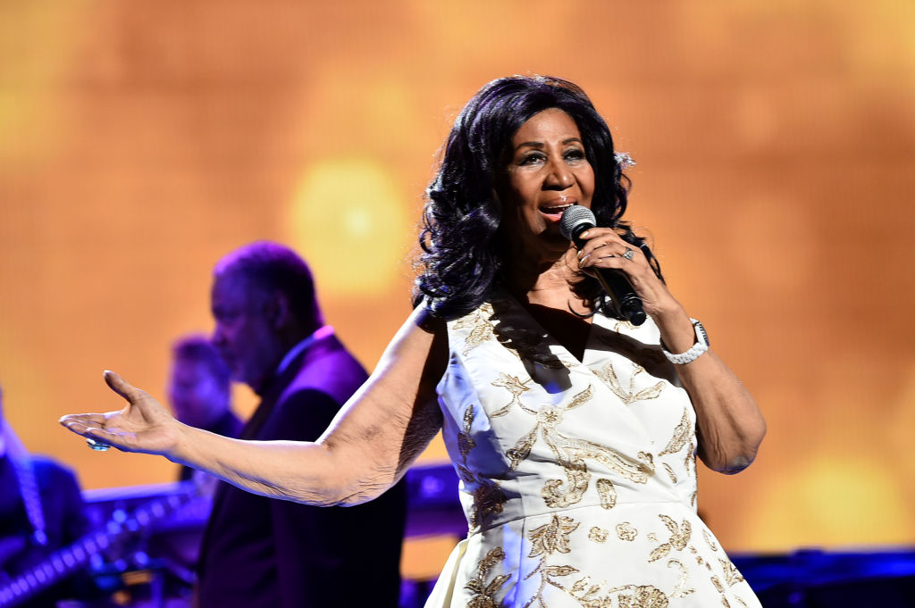 Aretha Franklin performs onstage during the 'Clive Davis: The Soundtrack of Our Lives' Premiere Concert during the 2017 Tribeca Film Festival at Radio City Music Hall on April 19, 2017 in New York City. (Photo by Theo Wargo/Getty Images for Tribeca Film Festival)