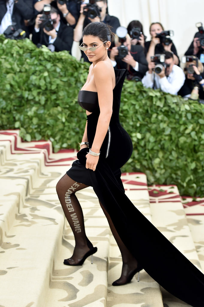 Kylie Jenner attends the Heavenly Bodies: Fashion & The Catholic Imagination Costume Institute Gala at The Metropolitan Museum of Art on May 7, 2018 in New York City. (Photo by Theo Wargo/Getty Images for Huffington Post)