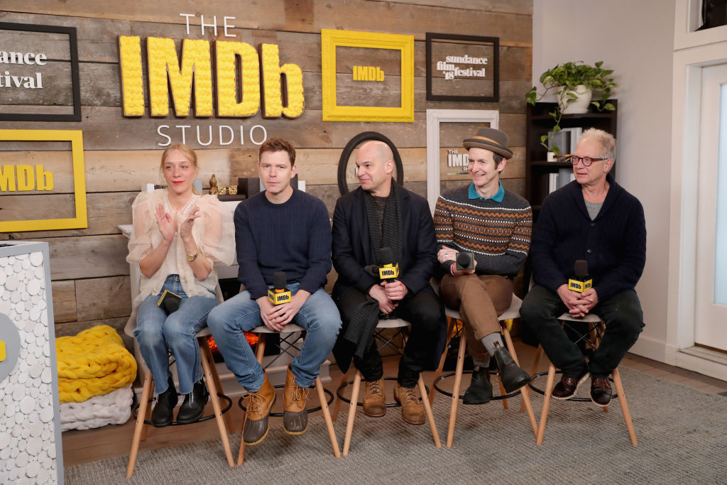 (L-R) Chloe Sevigny, Craig William Macneill, Bryce Kass, Denis O'Hare, and Jeff Perry of 'Lizzie' attend The IMDb Studio and The IMDb Show on Location at The Sundance Film Festival on January 20, 2018 in Park City, Utah. (Photo by Rich Polk/Getty Images for IMDb)