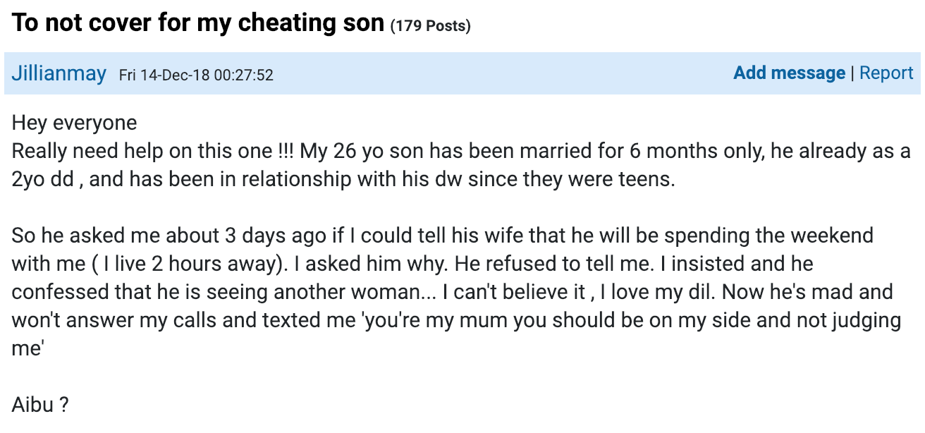 (Source: Mumsnet)