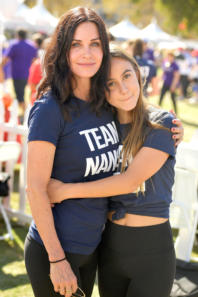 Courteney Cox and Coco Arquette attend the Nanci Ryder's 'Team Nanci' participates in the 15th Annual LA County Walk to Defeat ALS at Exposition Park on October 15, 2017, in Los Angeles, California. (Photo by Matt Winkelmeyer/Getty Images)