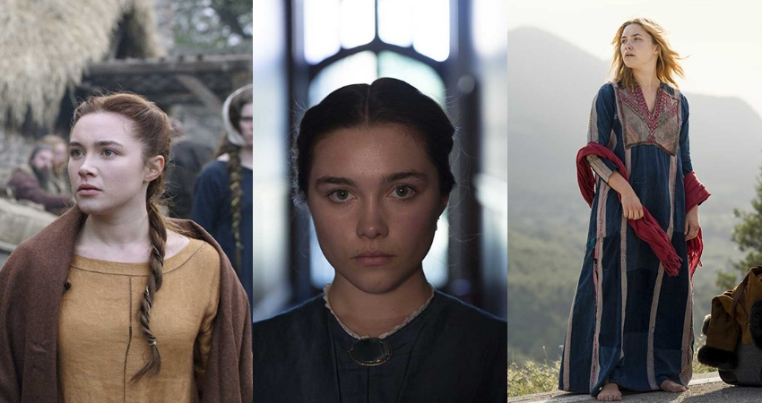 Pugh in 'Outlaw King', 'Lady Macbeth', and 'The Little Drummer Girl'. (IMDb)