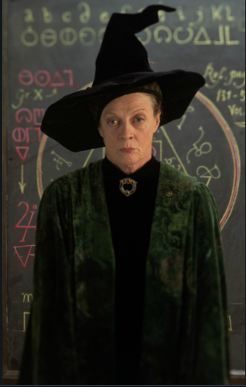 Maggie Smith as Minerva McGonagall.