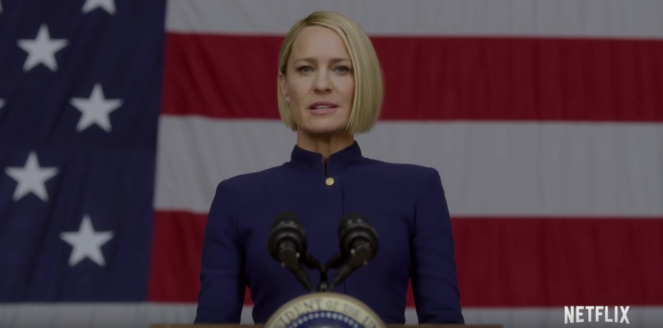 Robin Wright in House of Cards which delivered a weak final season
