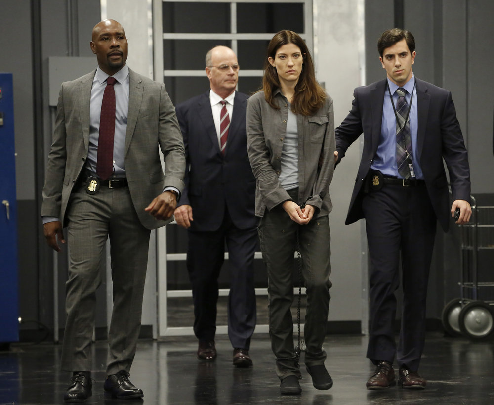Morris Chestnut, John Finn, and Jennifer Carpenter in 'The Enemy Within'. (Source: IMDB)