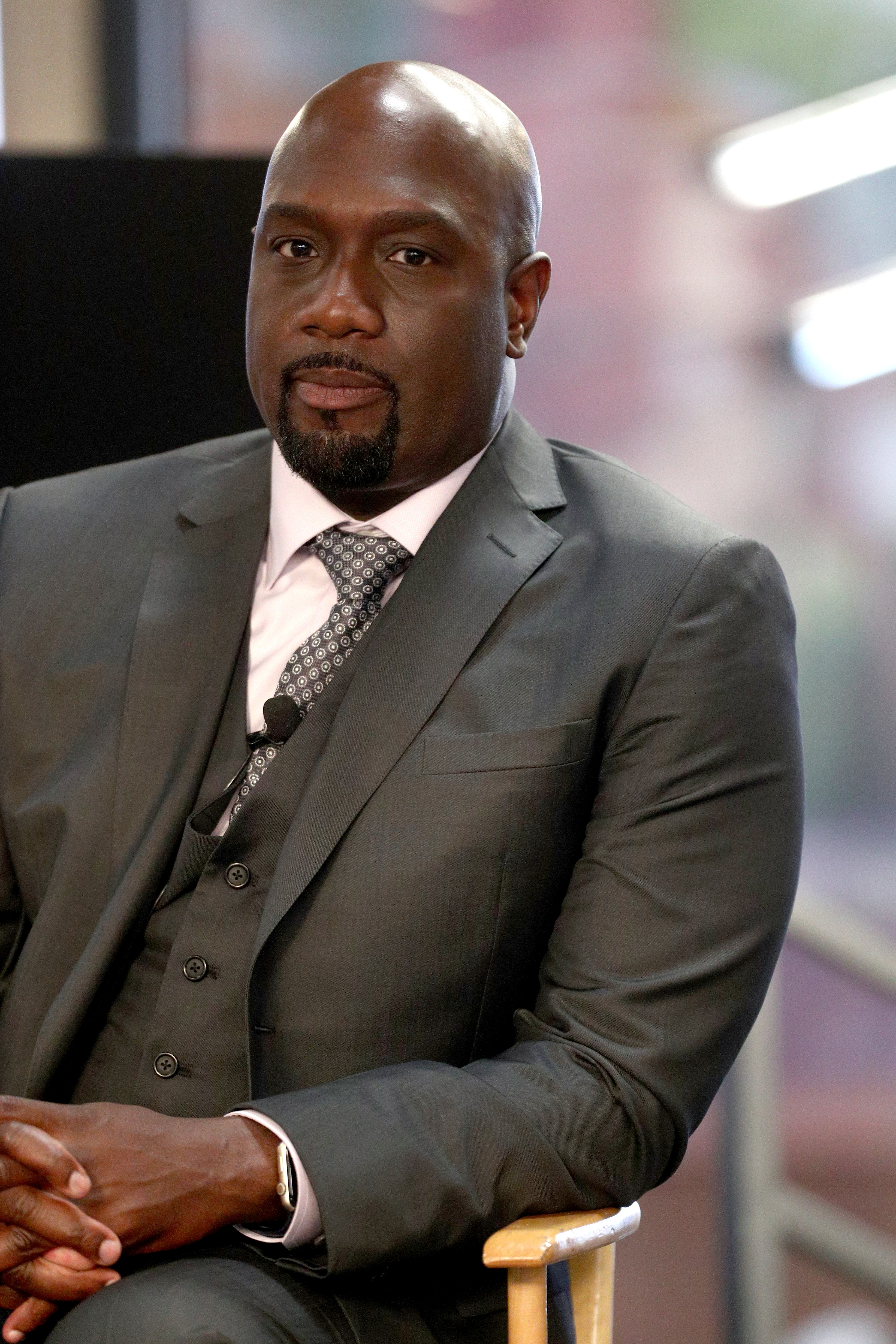 Actor Richard T. Jones of 'Wisdom of the Crowd' speaks onstage during the CBS portion of the 2017 Summer Television Critics Association Press Tour at CBS Studio Center on August 1, 2017 in Los Angeles, California.