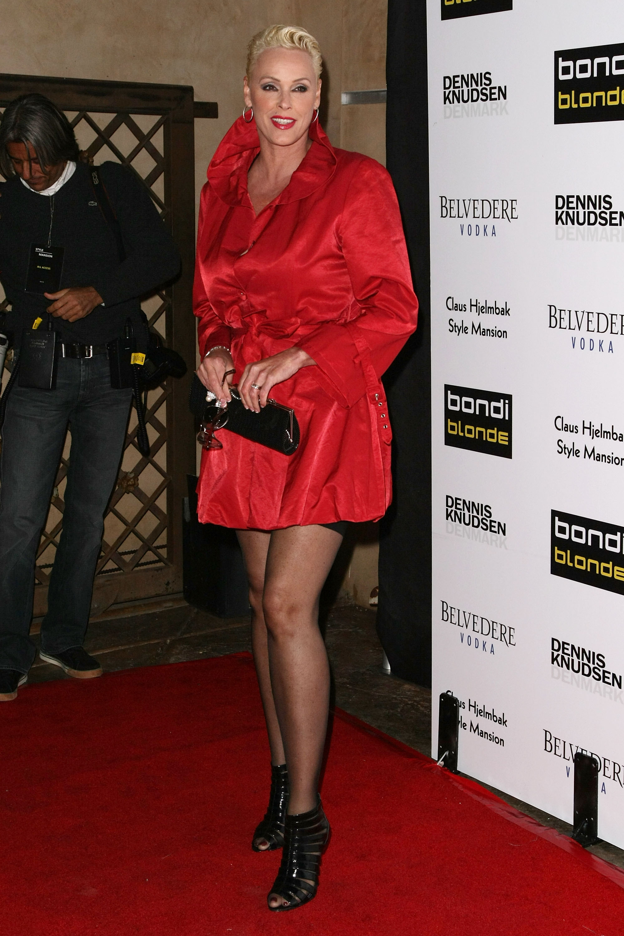 Brigitte Nielsen attends the Bondi Blonde's Style Mansion at the Style Mansion International on February 9, 2009 in Beverly Hills, California.