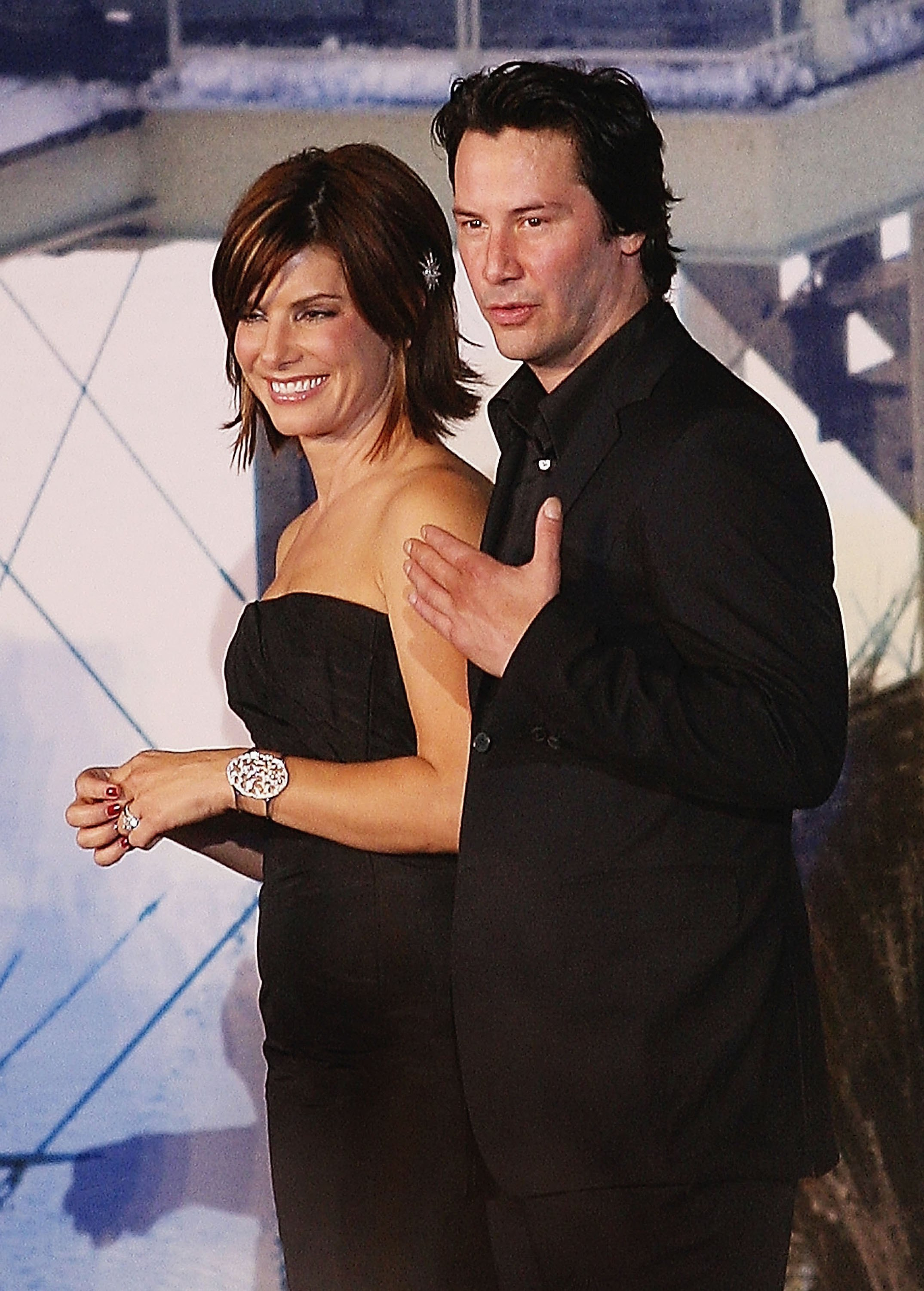 Actor Keanu Reeves and actress Sandra Bullock attend the Japanese Premiere for 'The Lake House' on September 4, 2006, in Tokyo, Japan. (Getty Images)