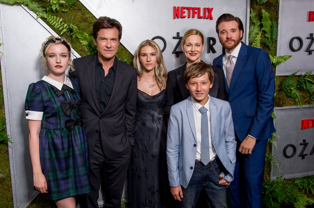 Julia Garner, Jason Bateman, Sofia Hublitz, Skylar Gartner, Laura Linney and Jason Butler Harner attend the 'Ozark' New York Screening at The Metrograph on July 20, 2017 in New York City. (Photo by Roy Rochlin/FilmMagic)