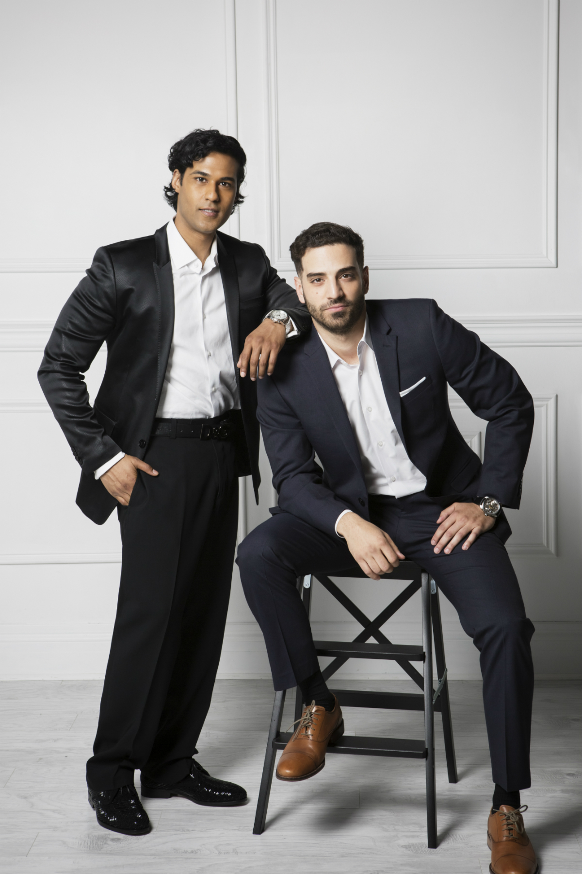 Prem Singh and Michael Pugliese Credit: Laura Vertue/Kissed By Light Studio