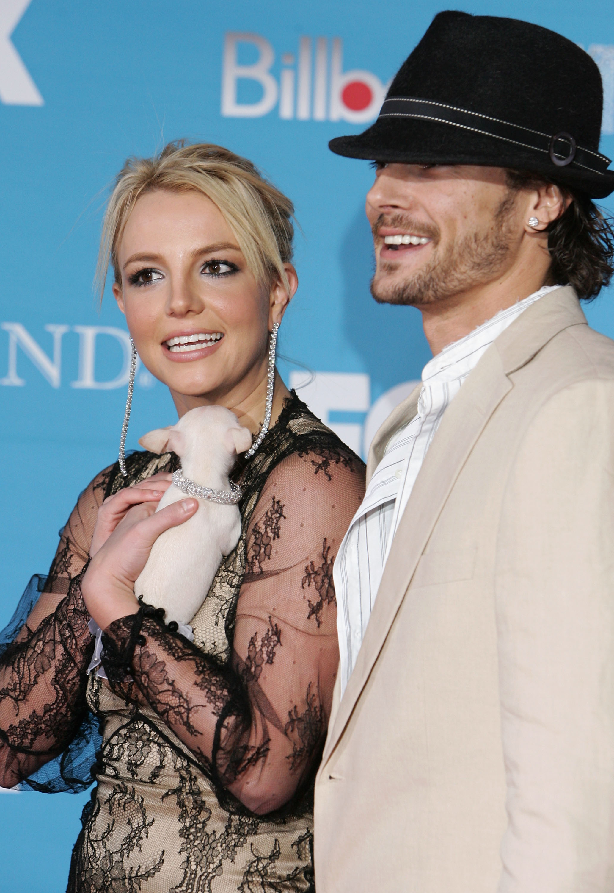 Singer Britney Spears and husband Kevin Federline arrive at the 2004 Billboard Music Awards on December 8, 2004 at the MGM Grand Garden Arena, in Las Vegas, Nevada.
