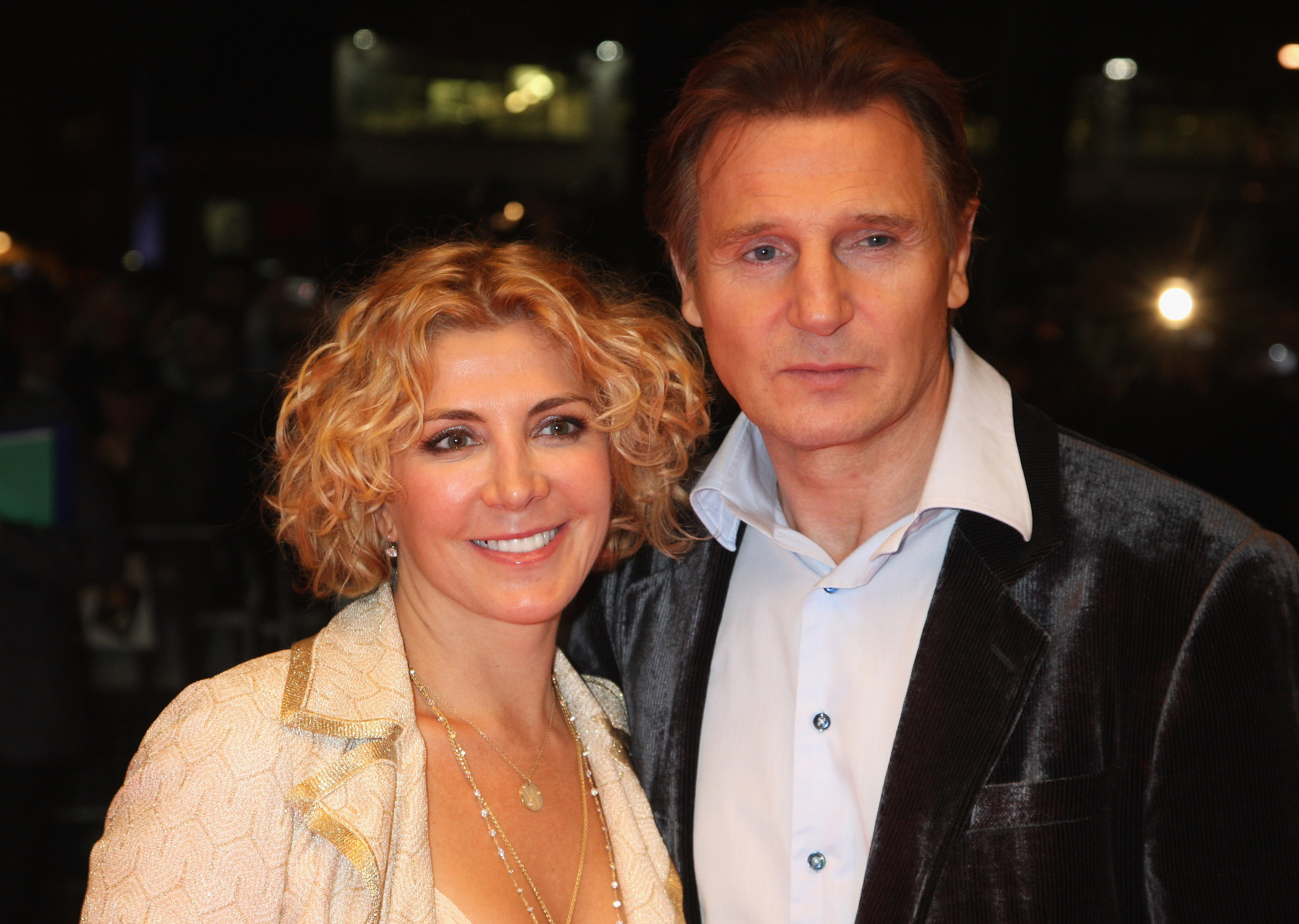 Liam Neeson and Natasha Richardson arrive at the BFI 52 London Film Festival: 'The Other Man' Premiere at the Odeon West End on October 17, 2008 in London, England.