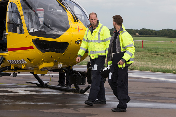 Prince William starts his final shift with the East Anglian Air Ambulance based out of Marshall Airport on July 27, 2017 near Cambridge, (Photo by Heathcliff O'Malley - WPA Pool/Getty Images)