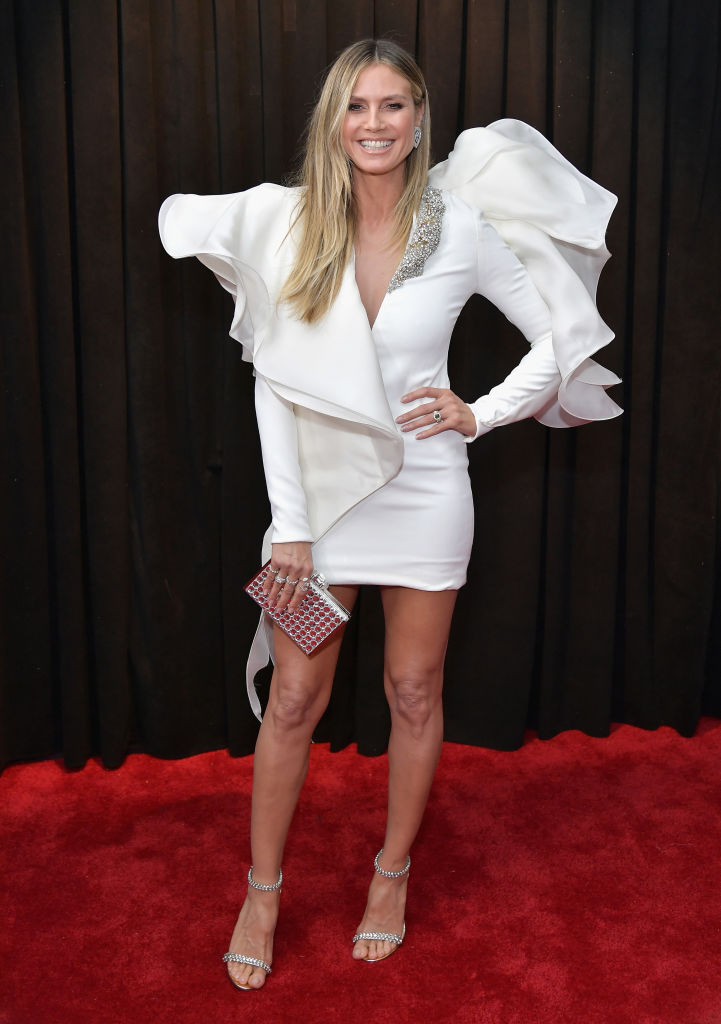 Heidi Klum attends the 61st Annual GRAMMY Awards at Staples Center. (Photo by Neilson Barnard/Getty Images for The Recording Academy)