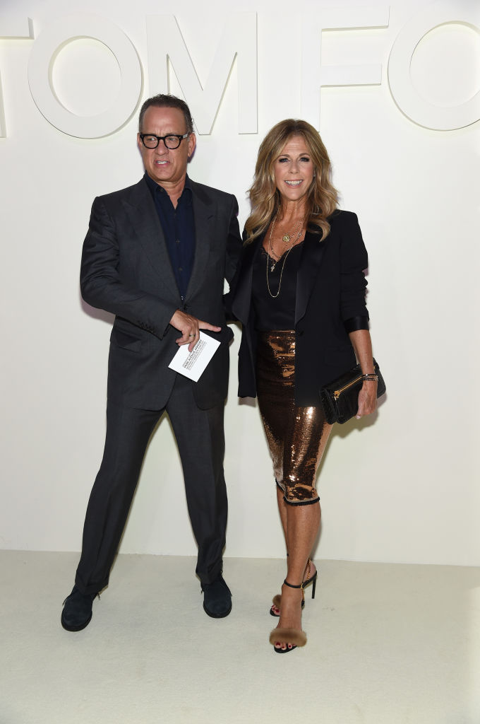 Tom Hanks and Rita Wilson attend the Tom Ford fashion show during New York Fashion Week at Park Avenue Armory on September 5, 2018 in New York City. (Photo by Jamie McCarthy/Getty Images)
