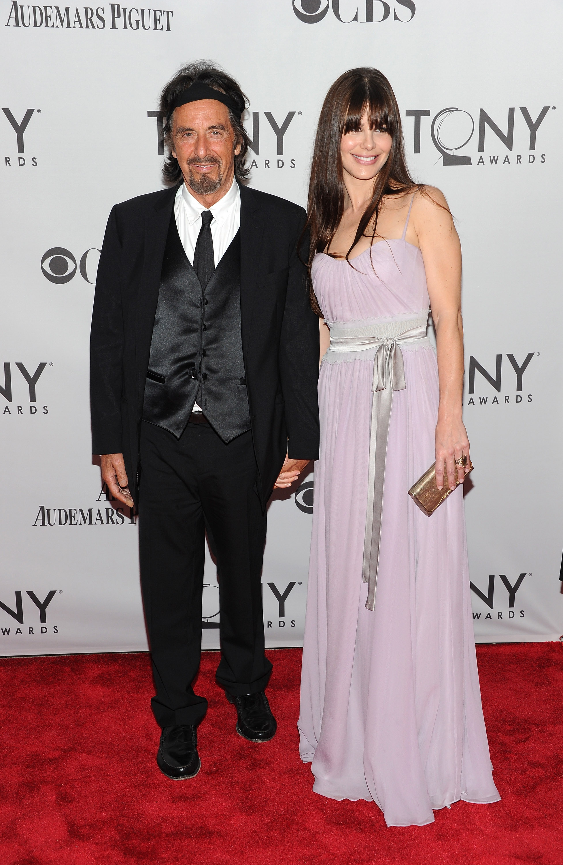 Al Pacino and Lucila Sola attend the 65th Annual Tony Awards at the Beacon Theatre on June 12, 2011 in New York City.