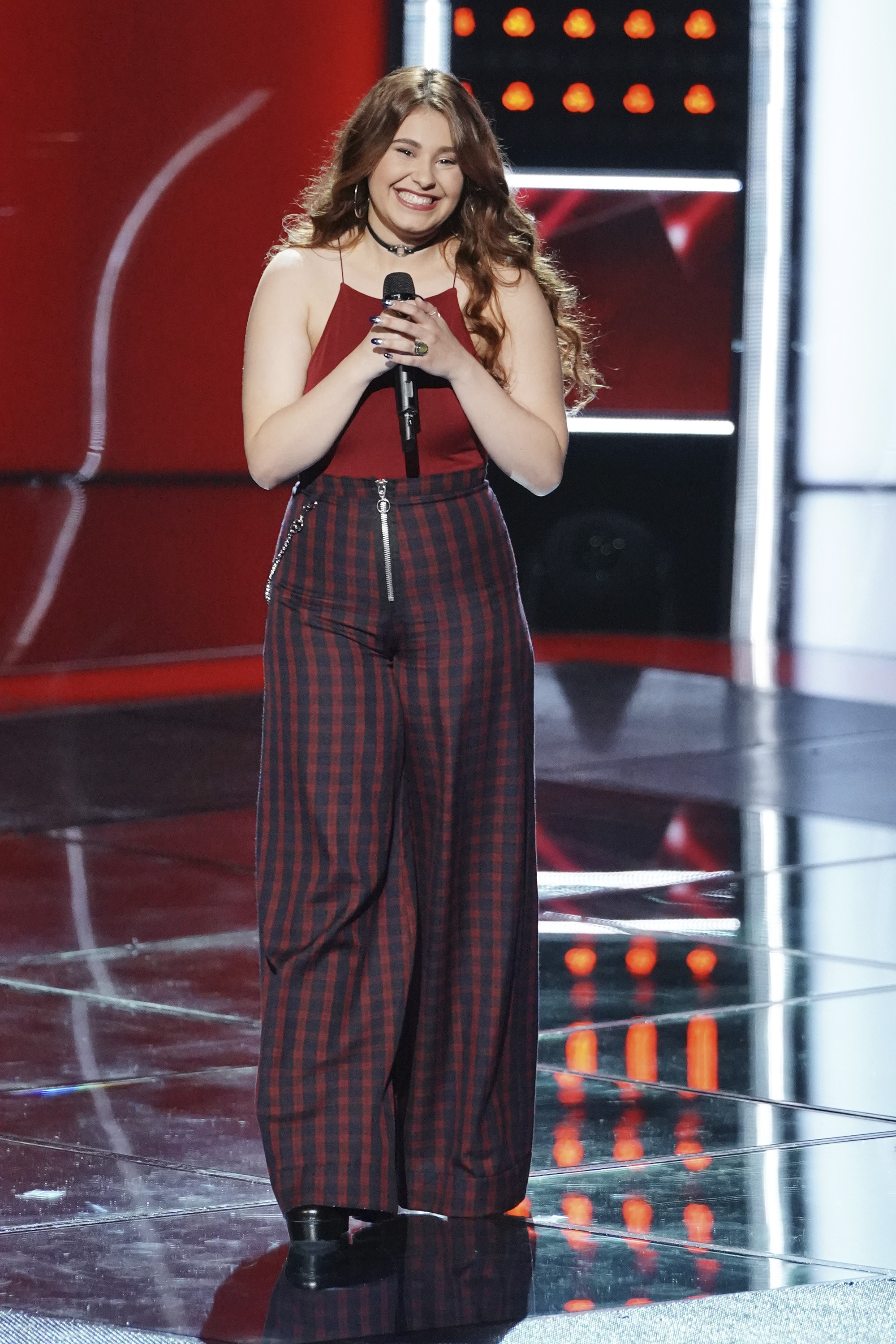 "THE VOICE -- ""Blind Auditions"" Episode 1505 -- Pictured: Erika Zade -- (Photo by: Tyler Golden/NBC)"