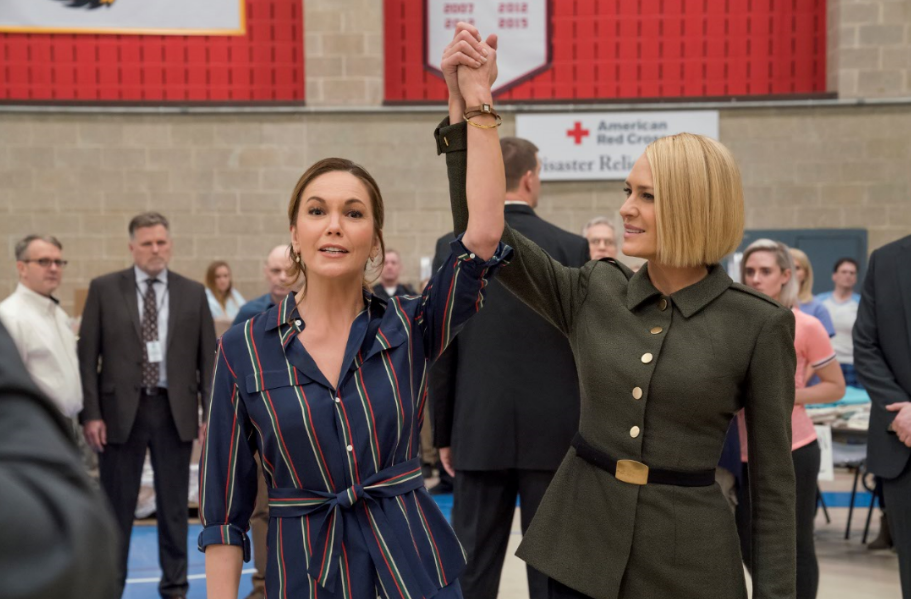 Diane Lane (L) as Annette Shepherd in the upcoming season of House of Cards.