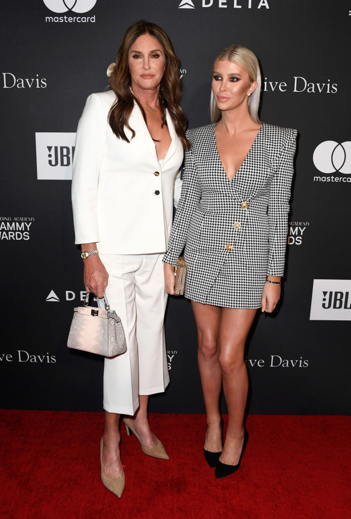 Caitlyn Jenner (L) and Sophia Hutchins attend the Pre-GRAMMY Gala and GRAMMY Salute to Industry Icons Honoring Clarence Avant at The Beverly Hilton Hotel on February 9, 2019, in Beverly Hills (Source: Frazer Harrison/Getty Images for NARAS)